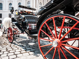 Traditional Fiaker carriage at Hofburg in Vienna, Austria