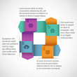 Abstract design infographics