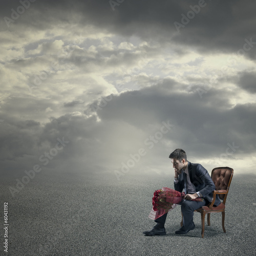Waiting for her