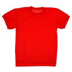 Red blank t-shirt (Clipping path)