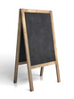 Blank old tripod blackboard