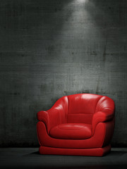 The red armchair