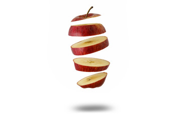 mela fette caduta libera