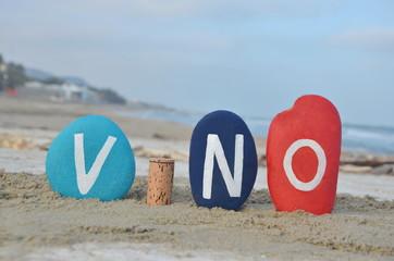 Vino, italian word on stones