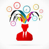 Abstract avatar vector illustration about time stress