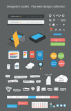 Designers toolkit - Flat web design collection