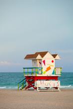 Miami Beach en Floride, Art déco maison de maître nageur