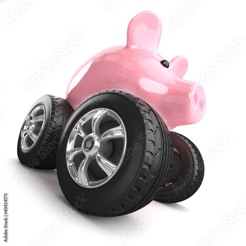 Piggy bank monster truck