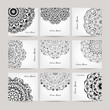Set of ornate cards for your design