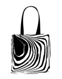 Shopping bag with zebra print for your design