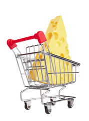 Shopping Cart with Cheese