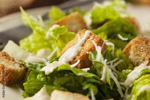 Fotobehang Salade Healthy Green Organic Caesar Salad