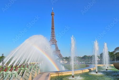 Paris. Fountains at Trocadero square