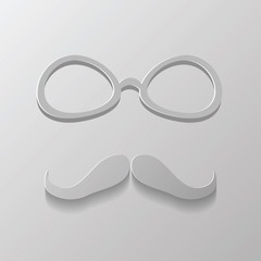 mustache and glasses
