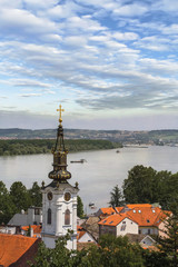 View From Gardos Lookout on River Danube and Saint Nicholas Chur