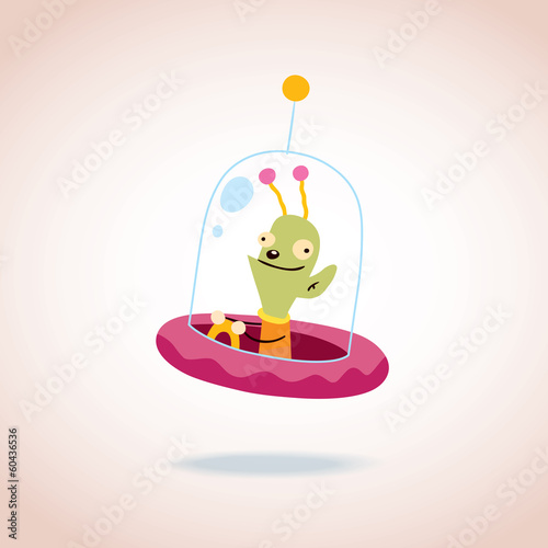 cute alien character