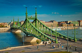 The famous Liberty Bridge in Budapest