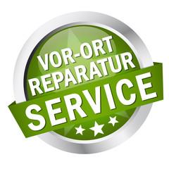 """Button mit Banner """" VOR-ORT REPARATUR SERVICE """""""