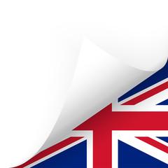 Papier - Ecke unten - Länderflagge UK