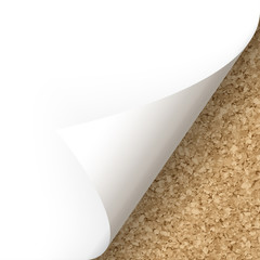 Papier - Ecke unten Kork-Struktur