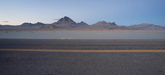 Highway Passes Great Bonneville Salt Flats Silver Island