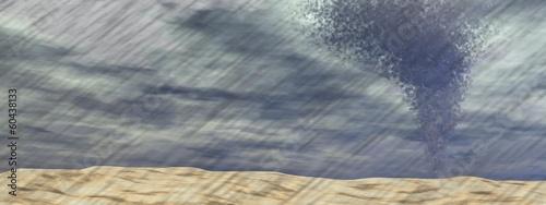 Tornado at the beach - 3D render