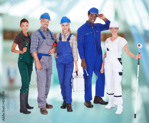 Group Of People With Diverse Professions