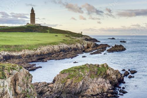 Tower of Hercules in A Coruna, Galicia, Spain. - 60439343
