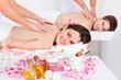 Couple Enjoying Tissue Back Massage