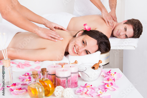 Couple Enjoying Tissue Back Massage