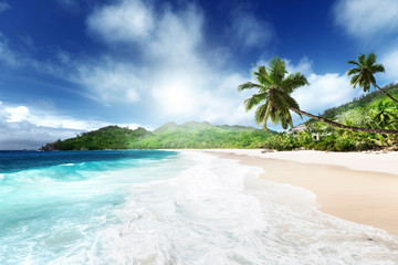 beach at Mahe island, Seychelles