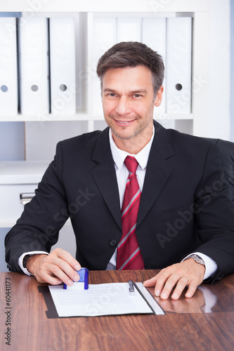 Smiling Mature Businessman
