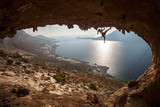 Rock climbers at Kalymnos Island, Greece