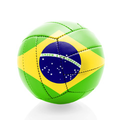 Brazil soccer ball isolated on white background.
