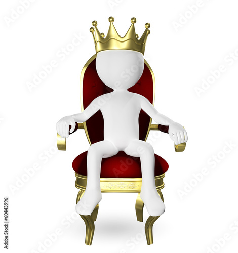 man on the throne