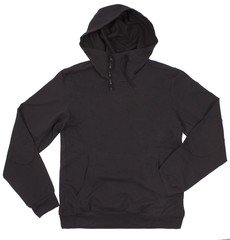 Black hoodie isolated on white