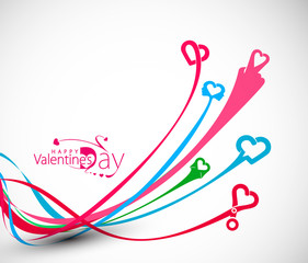 Valentine's Day Design, Vector Illustration.