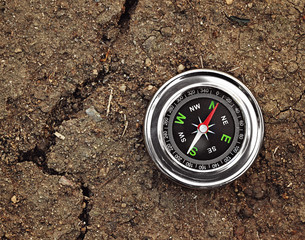 compass on ground