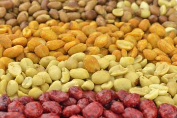 Rows of peanuts