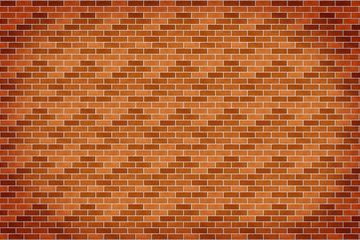 Background of orange brick wall