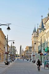 Piotrkowska Street, Lodz, Poland