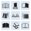 Set of computer icons books. Vector.
