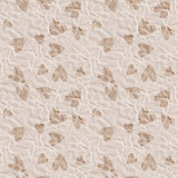 Paper hearts seamless pattern