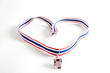 whistle with Thailand national flag lanyard in heart shape