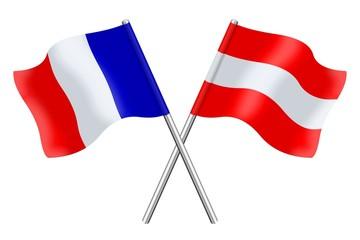 Drapeaux : duo France Autriche