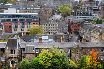 Aerial view of Edinburgh, Scotland,UK