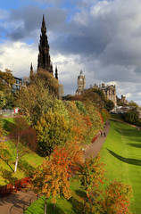 The Walter Scott monument on princess street, Edinburgh