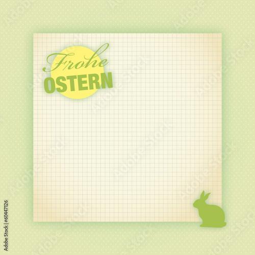 vintage notiz frohe ostern