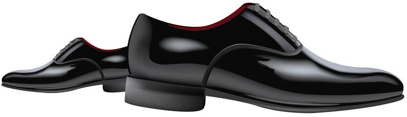 scarpe nere lucide