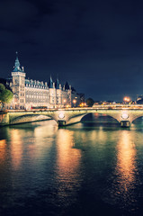 monuments of Paris by night